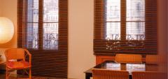 Las cortinas de bambú