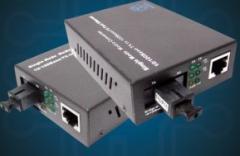 Media converter fibra única 10/100 SC