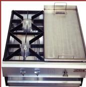 Cocina a gas de dos hornillas