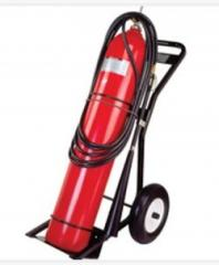 Los extintores de incendios, dióxido de carbono