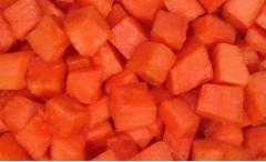 Cubos de papaya congelados