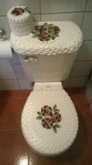 Cobertor de crochet para baño